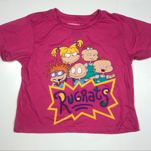 NICKELODEON RUGRATS PINK CROPPED TOP LARGE